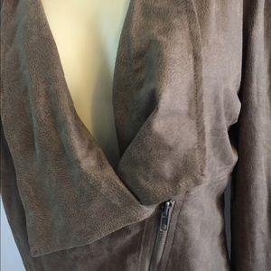 Miilla Clothing Jackets & Coats - Lagenlook mystree Brown zip jacket stitch fix faux